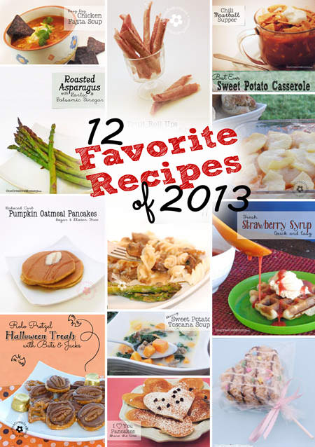 12 Favorite Recipes of 2013 from OneCreativeMommy.com {All gluten-free or with a gluten-free option}