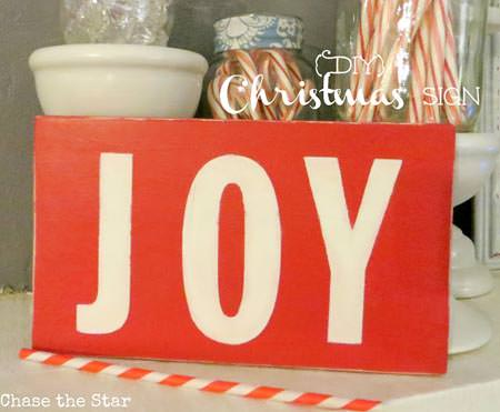 Joy Wooden Christmas Sign