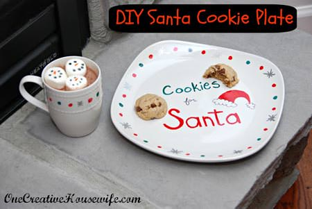 DIY Santa Cookie Plate