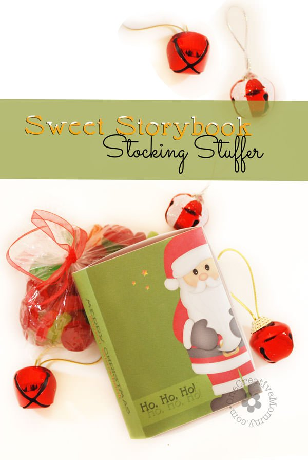 DIY Sweet Storybook Stocking Stuffer Idea for Kids {Why buy a LifeSavers book, when you can download the free printable to create the book-shaped box, and then fill it with your kid's favorite candy?} OneCreativeMommy.com