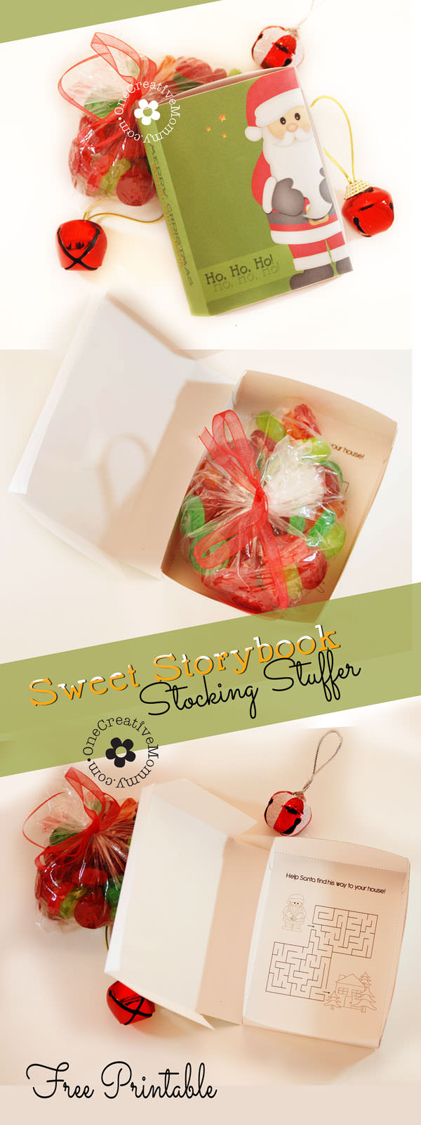 DIY Sweet Storybook Stocking Stuffer Idea {Download the free printable to create the book-shaped box, and then fill it with your kiddo's favorite candy.} OneCreativeMommy.com #stockingstufferideas #christmas #lifesavers