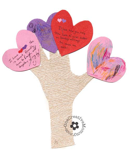 Let the members of your family know what you love about them with these fun Love Tree Valentine Crafts. Perfect for Family Night!