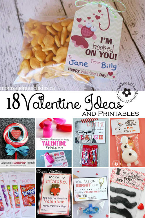 Check out 18 of the best Valentine Ideas and Printables from around the web! {OneCreativeMommy.com} #valentineideas