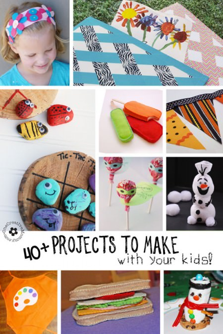 40+ Crafts for Kids! These are all projects you can do with your kiddos!} OneCreativeMommy.com
