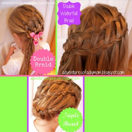 Waterfall braid via DIY Mom