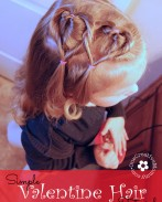 Create this easy Valentine hair style in ten minutes or less! I