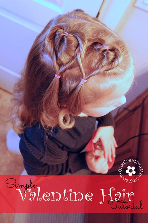 Easy valentine hair style tutorial