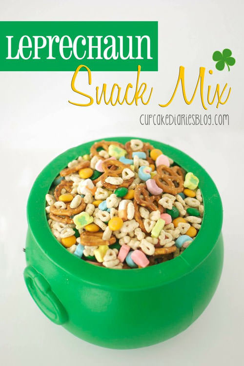 Leprechaun Snack Mix from Cupcake Diaries Blog