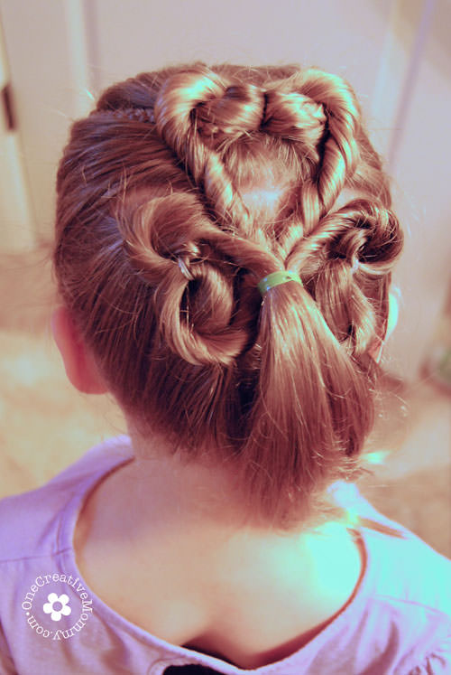 St Patrick S Day Hair For Girls Onecreativemommy Com