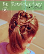 Learn how to create this adorable shamrock hair style for St. Patrick