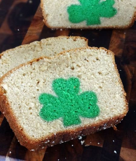 St. Patrick's Day Peek-a-Boo Pound Cake from Life Love and Sugar