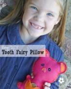 No more lost teeth or coins! Make things simple for the Tooth Fairy with an Easy DIY Tooth Fairy Pillow! {OneCreativeMommy.com}
