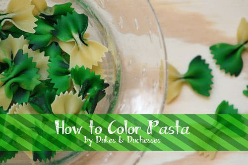 How to Color Pasta from Dukes and Duchesses