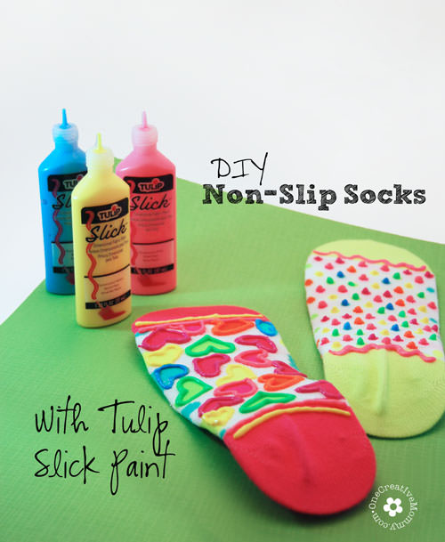 Diy non slip socks kids craft for No skid paint