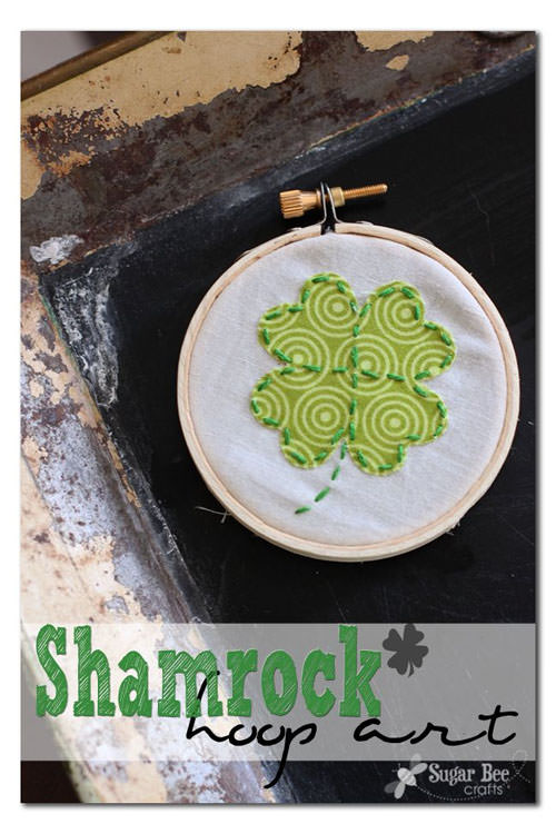 Shamrock Hoop Art from Sugar Bee Crafts