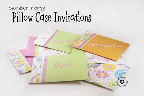 Pillow Case UnSlumber Party Invitations onecreativemommy – Free Printable Slumber Party Invitation Templates