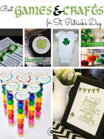 15 Best Crafts and Games for St. Patrick's Day! {OneCreativeMommy.com}
