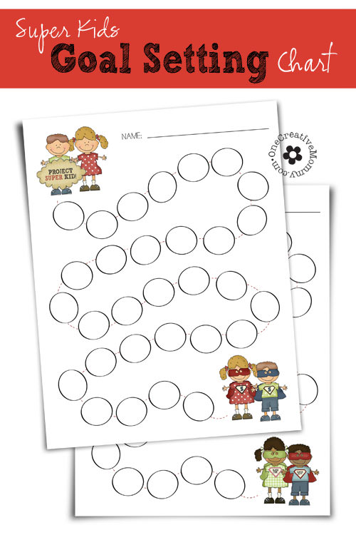 Super Kids Goal Setting Chart Onecreativemommy Com