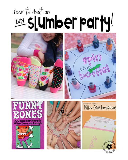 How To Host An Un Slumber Party Onecreativemommy
