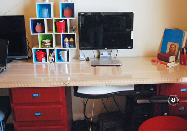 Diy Kids Computer Desk Station Onecreativemommy Com