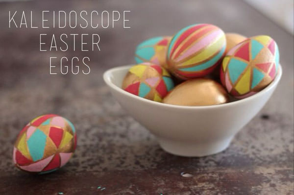 Kaleidoscope Easter Eggs from Sparkle {Unique Easter Decorating Ideas from OneCreativeMommy.com}
