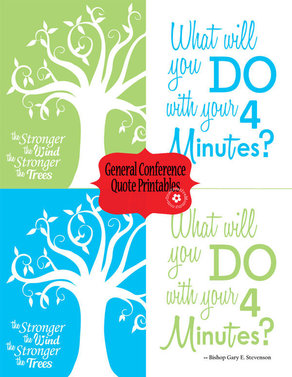 Some of my favorite inspirational quotes from LDS General Conference {Printables from OneCreativeMommy.com}