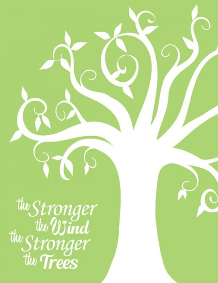 The Stronger the Wind, the Stronger the Trees {We are strengthened by adversity} Printable from OneCreativeMommy.com
