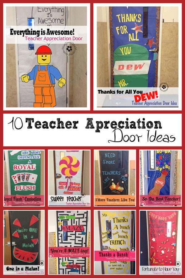 Classroom Ideas For New Teachers ~ Teacher appreciation ideas for door decorating