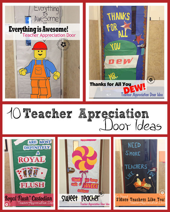 Classroom Ideas For Halloween Party ~ Teacher appreciation ideas for door decorating