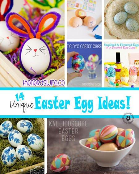 14 Unique Easter Egg Ideas Onecreativemommy Com