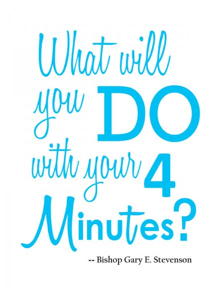What Will You do With Your Four Minutes? {Printable from OneCreativeMommy.com}