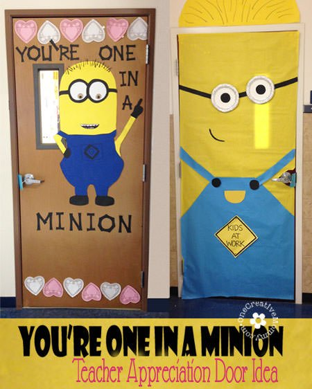 One In A Minion Teacher Door Idea Onecreativemommy Com