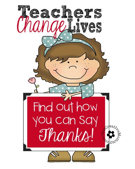 Teachers change lives every day. Find out how you can say thank you and lend a hand! {OneCreativeMommy.com} #teacherschangelives #CGC