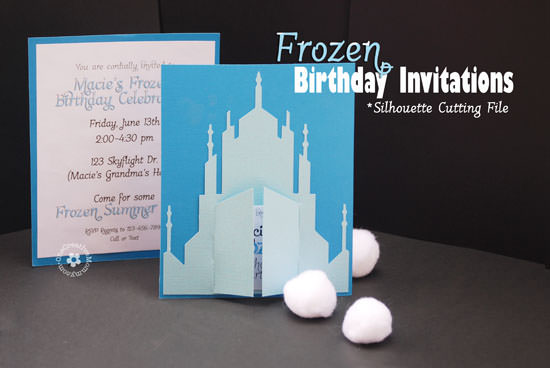 Free Disney Frozen Birthday Invitations ~ How to host a frozen party onecreativemommy