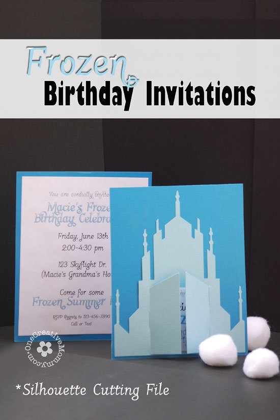 Frozen Birthday Invitations 2 Designs onecreativemommycom
