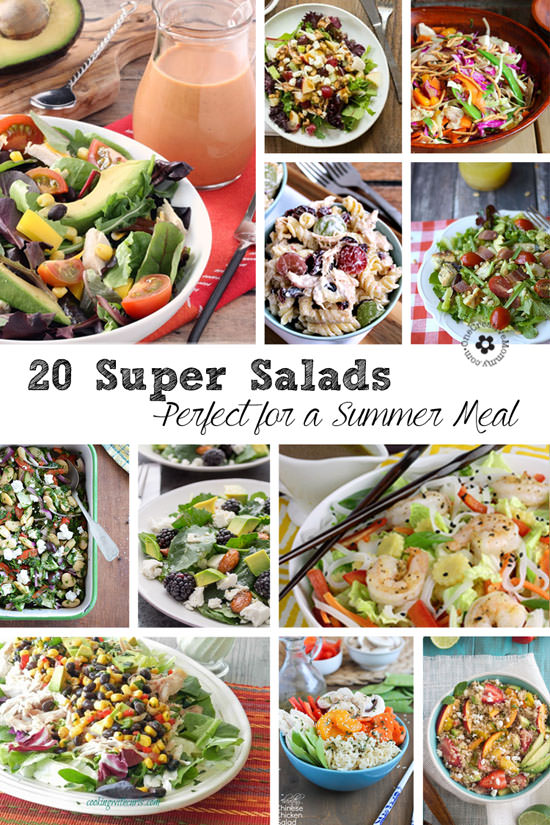20 Delicious Main Dish Salad Recipes {Perfect for Summer!} OneCreativeMommy.com