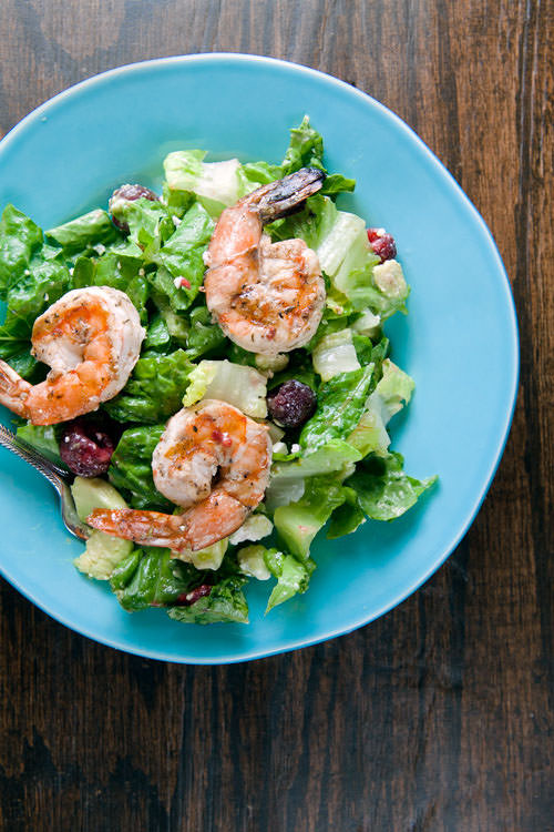 Summer Salad with Grilled Shrimp from Healthy. Delicious. {20 Main Dish Salads Perfect for Summer on OneCreativeMommy.com}