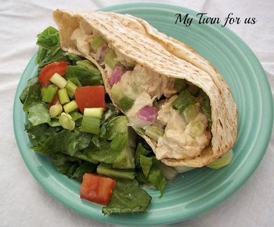 Slam Dunk Chicken Salad from My Turn for Us {20 Main Dish Salads Perfect for Summer on OneCreativeMommy.com}