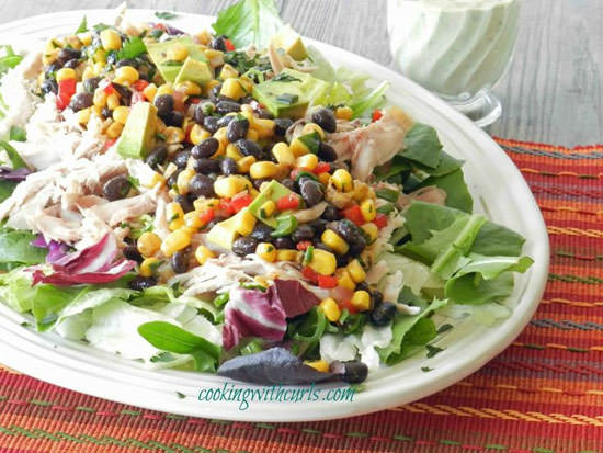 Southwest Chicken Salad from Cooking With Curls {20 Main Dish Salads Perfect for Summer on OneCreativeMommy.com}