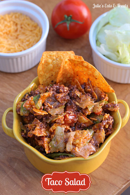 Taco Salad from Julie's Eats & Treats {20 Main Dish Salads Perfect for Summer on OneCreativeMommy.com}
