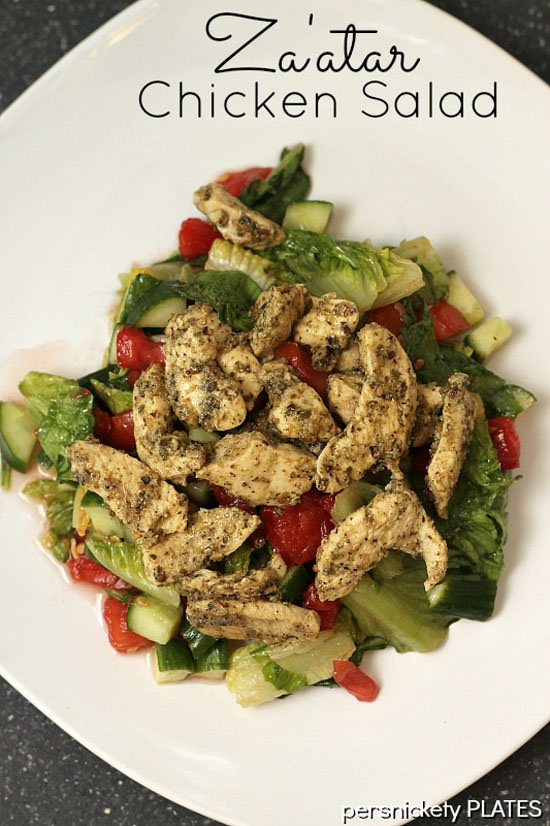 Za'atar Chicken Salad from Persnickety Plates {20 Main Dish Salads Perfect for Summer on OneCreativeMommy.com}