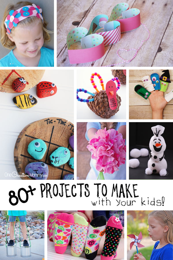 80+ Crafts for Kids! Fun & creative projects to make with your kiddos! {OneCreativeMommy.com}
