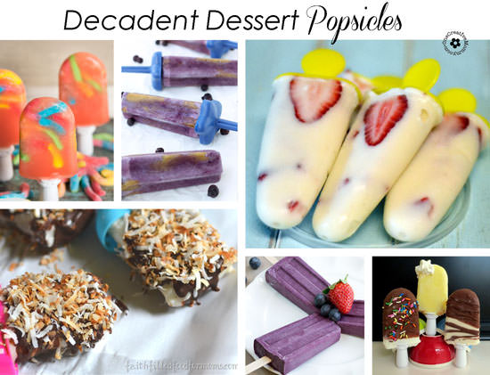 These decadent ice cream bars and popsicles are perfect for dessert! {OneCreativeMommy.com}