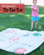 Bored kids? Shake up Summer with Frisbee Tic-Tac-Toe! {OneCreativeMommy.com} #summerfun #frisbee