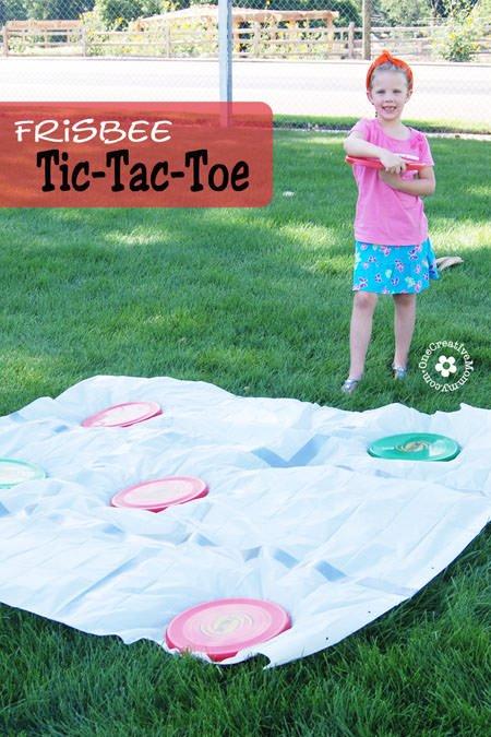 Frisbee Tic Tac Toe Onecreativemommy Com
