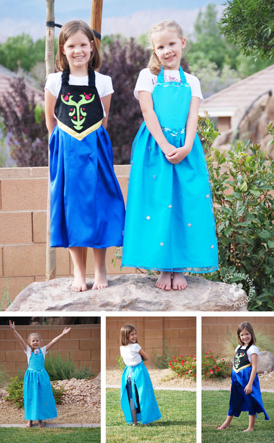 Dress Up Aprons inspired by Disney's Frozen