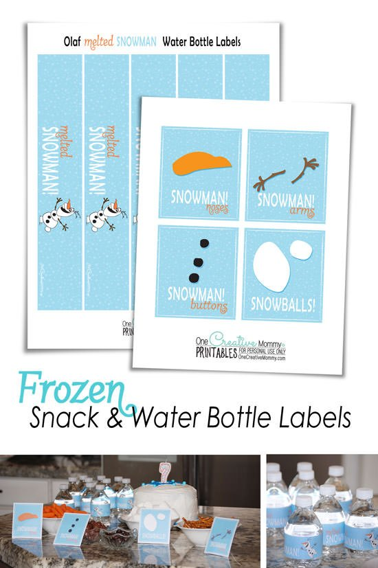 image regarding Frozen Printable Labels known as Frozen Drinking water Bottle Labels Snack Labels