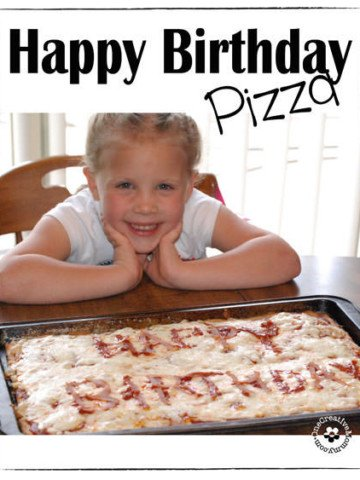 Create a fun birthday tradition with Happy Birthday Pizza! {OneCreativeMommy.com}