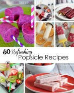 Cool off this summer with over 50 Refreshing Popsicles recipes from the best bloggers around! {OneCreativeMommy.com}#popsicles