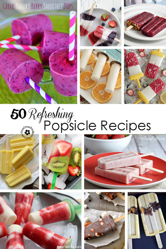 50 Refreshing Popsicles Recipes {Which will you pick to cool yourself off this summer?} OneCreativeMommy.com